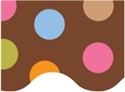 Picture of Dots on Chocolate Border