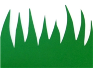 Picture of Green Grass Die-Cut Border