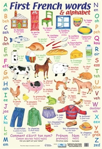 Picture of First French Words Learning Chart