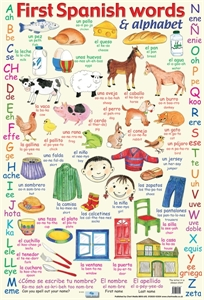 Picture of First Spanish Words Learning Chart