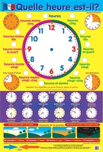 Picture of French What's The Time Learning Chart
