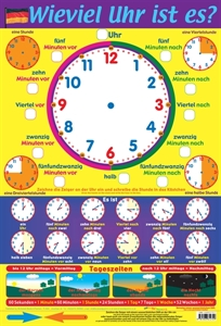 Picture of German What's The Time Learning Chart