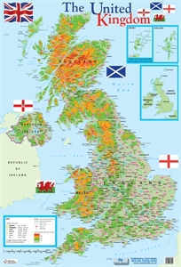 Picture of The United Kingdom Map Learning Chart