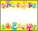 Picture of Rainbow Handprints Name Tags