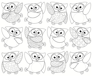 Picture of Colour-Me Owl Stars Cut-outs