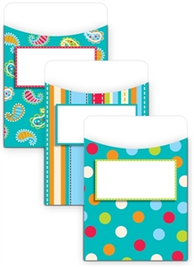 Picture of Dots on Turquoise Jumbo Library Pockets