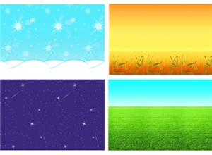 Picture of Seasons Backing Paper Pack