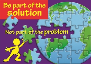 Picture of Be part of the solution Motivational Chart