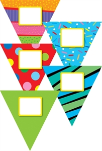 Picture of Poppin' Patterns Pennants Jumbo Cut-outs