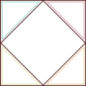 Picture of Quilt Squares Jumbo Designer Cut-Outs