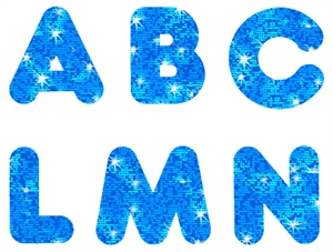 Picture of Blue Sparkle Uppercase Letters