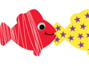 Picture of Happy Fish Border