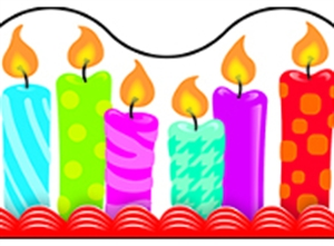 Picture of Birthday Candles Border