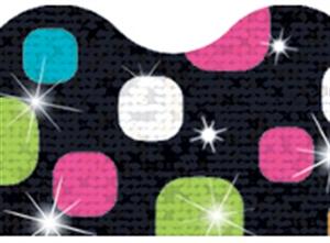 Picture of Disco Super Dots Sparkle Border