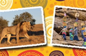 Picture of Africa Postcards Photo Border