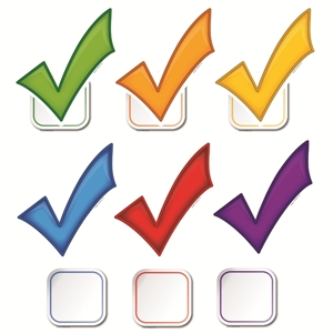 Picture of Checkmarks Cut-outs