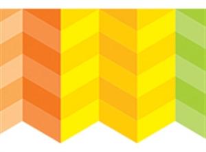 Picture of Painted Palette Rainbow Herringbone Border