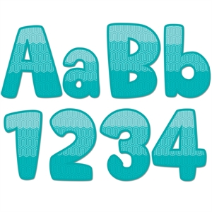 Picture of Painted Palette Ombre Turquoise Maze Designer Letters
