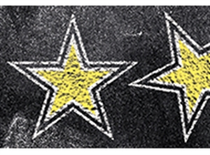 Picture of Chalk It Up! Gold Stars Border