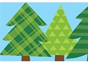 Picture of Patterned Pine Trees Border