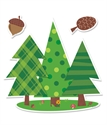 Picture of Woodland Friends Pine Trees Jumbo Cut-outs