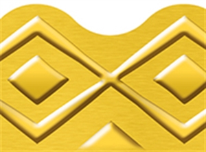 Picture of I Love Metal Golden Lines Border
