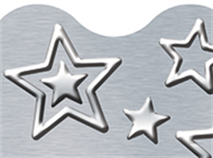 Picture of I Love Metal Silver Stars Border