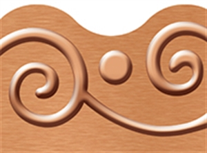 Picture of I Love Metal Copper Scrolls Border