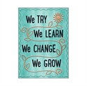 Picture of We Try We Learn We Change Motivational Chart